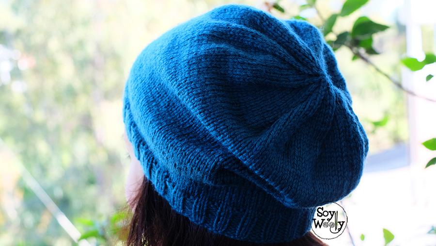 Patrón para tejer un gorro hipster-slouchy en dos agujas | Soy Woolly