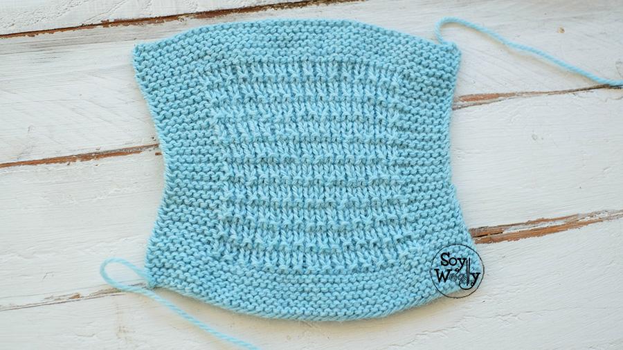 Como bloquear el tejido a dos agujas tricot calceta o palillos