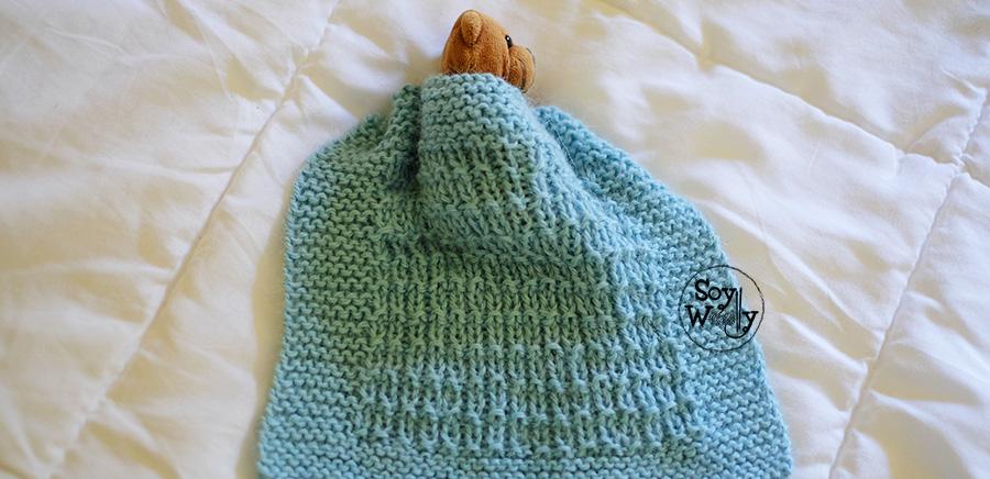 C mo tejer una manta de beb muy f cil en dos agujas soy - Tejer mantas de lana ...