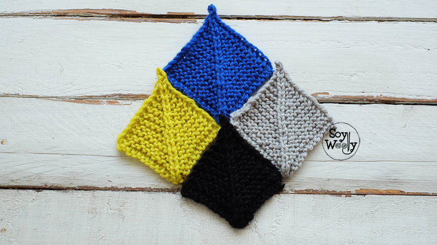 Como tejer cuadrados para colchas mantas cojines manteles alfombras en dos agujas