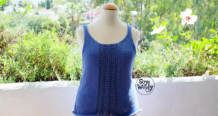 Blusa o Top tejido en dos agujas: Patrón descargable | Soy Woolly