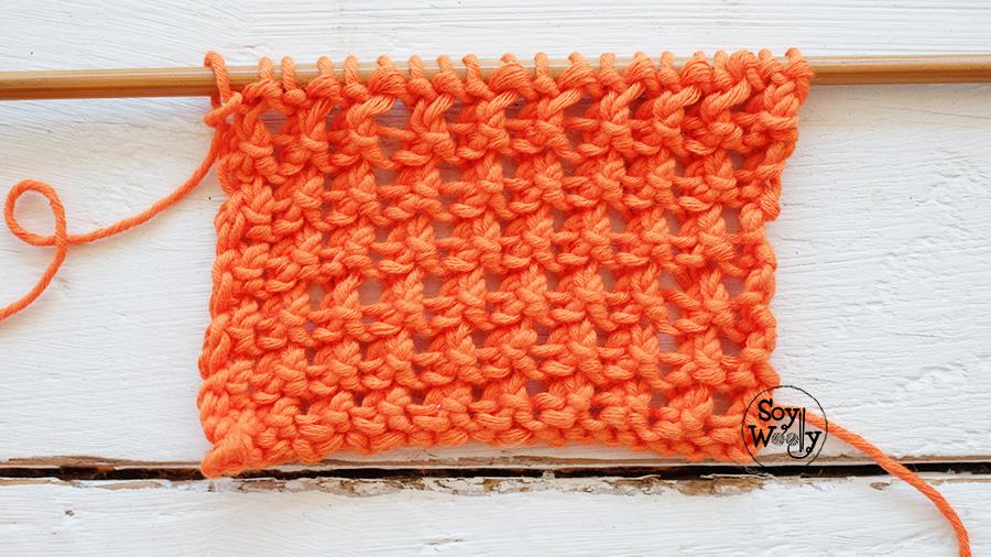 Puntos para bufandas tejidos en dos agujas calceta tricot