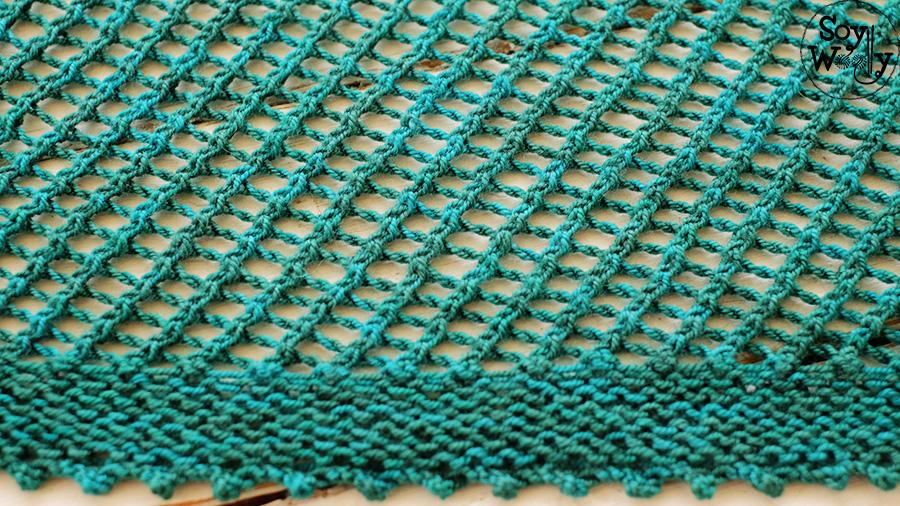 bordes para chales tejidos en dos agujas palitos calceta