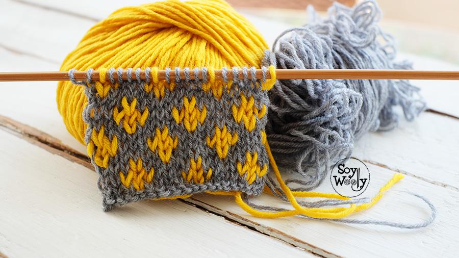 Aprender a tejer en colores paso a paso dos agujas calceta tricot