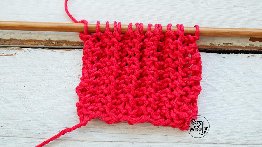 Puntadas faciles para tejer bufandas y cuellos a palillos tricot dos agujas