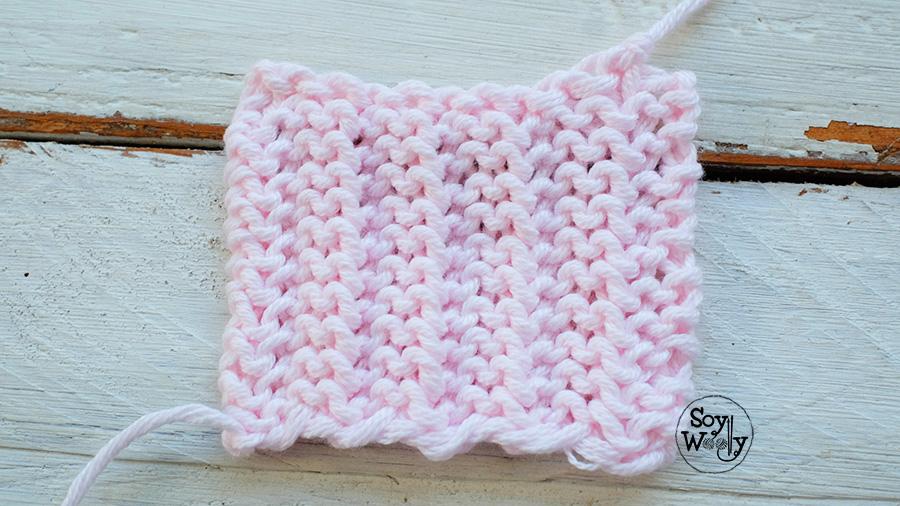 Puntos nuevos para tejer bufandas dos agujas que no se enroscan