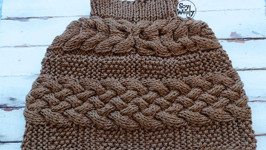 Como tejer una capa facil en tricot dos agujas