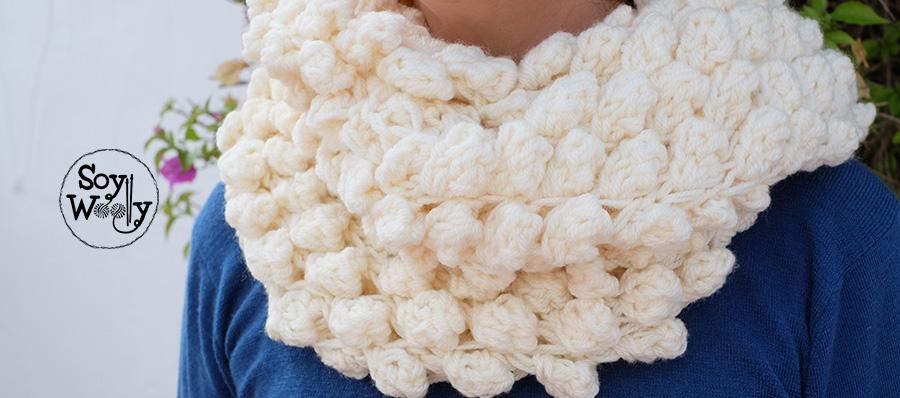 Cuello Infinito tejido en Punto Bodoques TRICOT   Soy Woolly