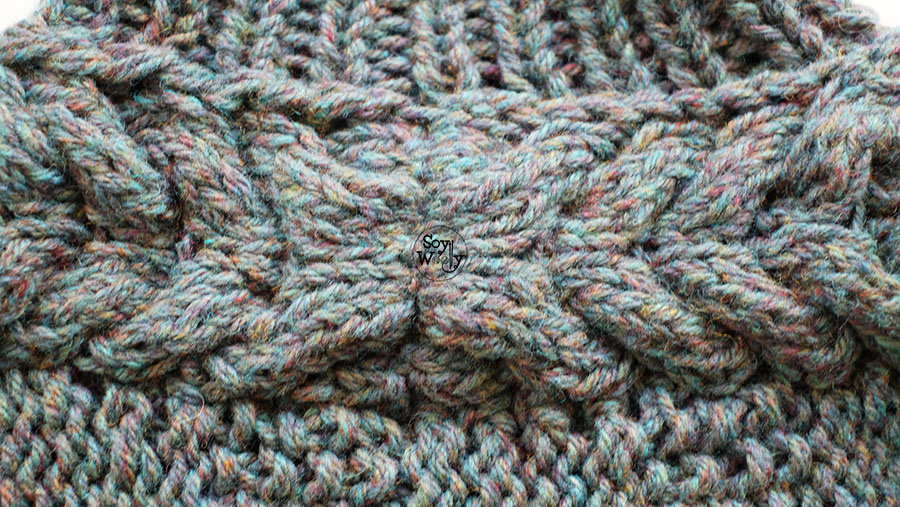 Tejer Trenza Candelabro en dos agujas palillos tricot