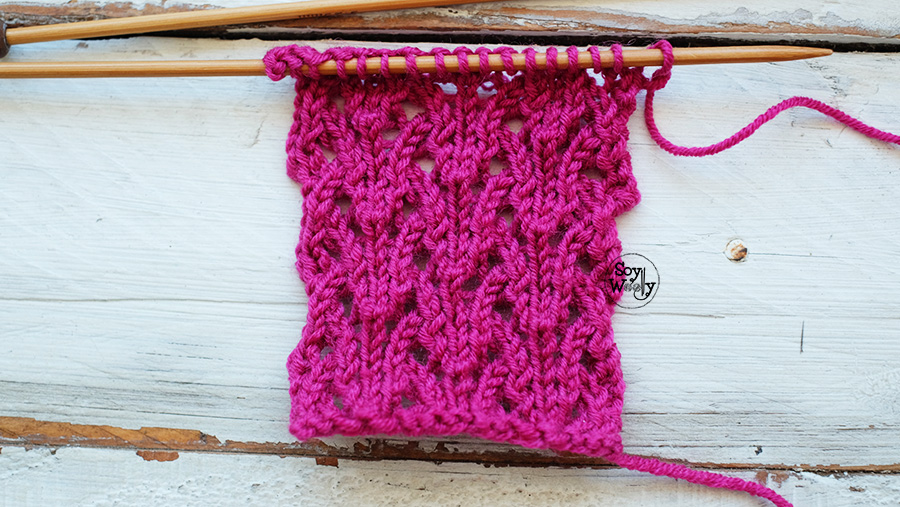 Punto Calado para tejer Ponchos en dos agujas palillos tricot calceta