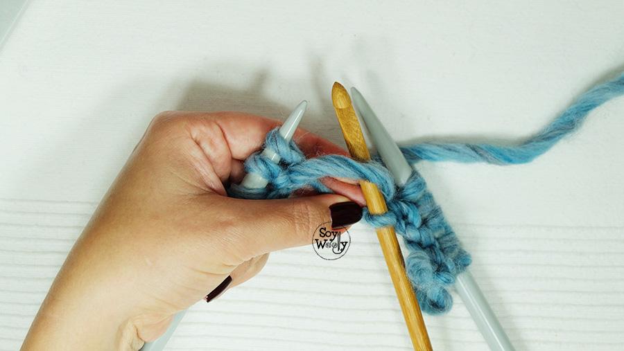 Como arreglar puntos que se sueltan de las agujas palillos tejer