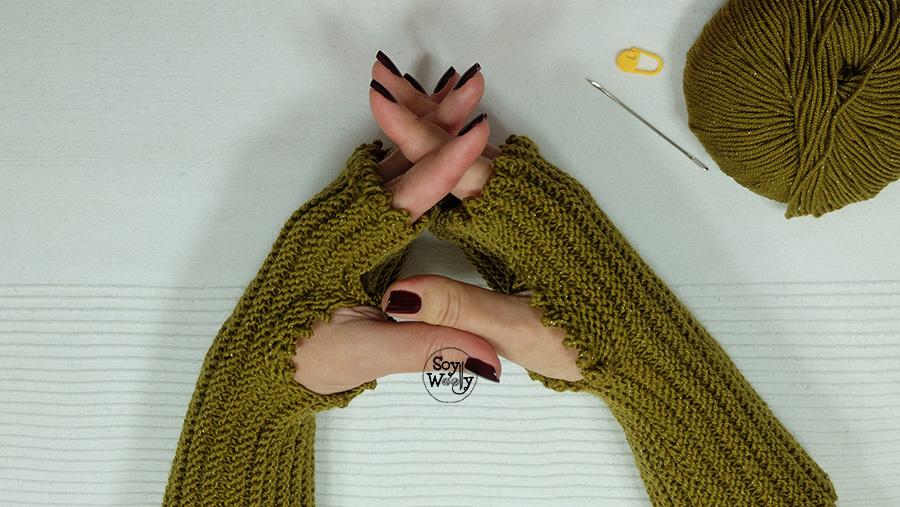 Como tejer mitones faciles en dos agujas tricot calceta