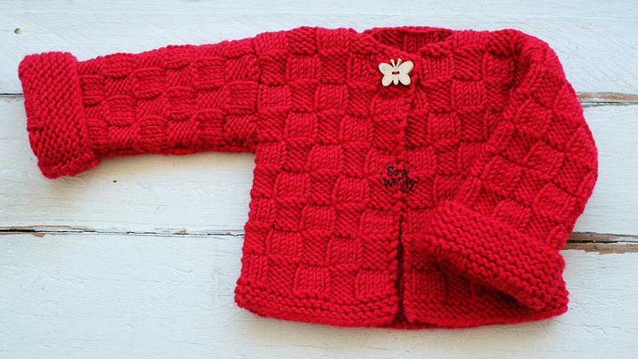 Como tejer una rebeca para niños dos agujas tricot calceta