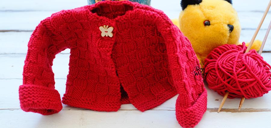 d0212643d Cardigan de Niños para principiantes tejido en dos agujas