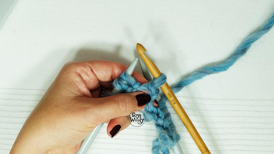 Usos del ganchillo en el tricot punto dos agujas palitos calceta5