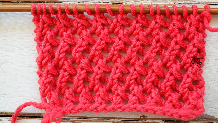 Tutorial Punto Red dos agujas tricot paso a paso