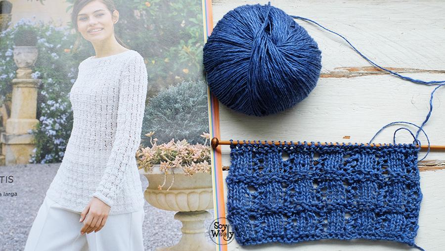 aprender a tejer puntos calados paso a paso dos agujas tricot palillos