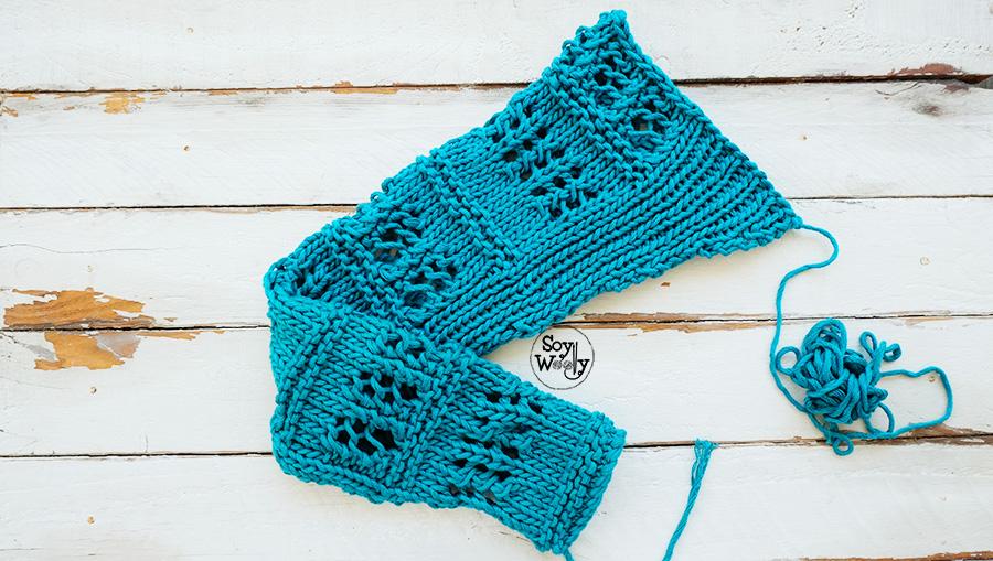 Como tejer las mangas de un jersey tricot palillos dos agujas