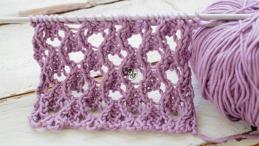 Como tejer punto de encaje doble faz palillos tricot calceta
