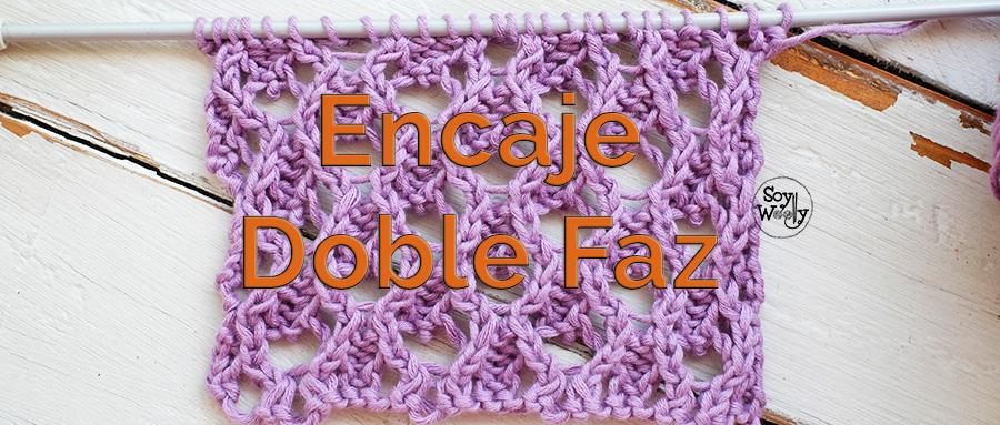 Patrón Punto de Encaje Doble Faz en dos agujas | Soy Woolly