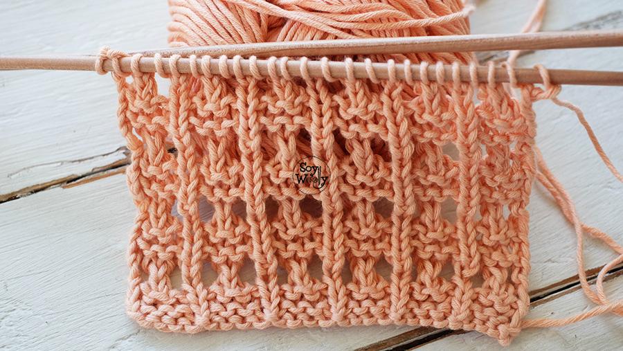Punto Calado para principiantes dos agujas palillos tricot