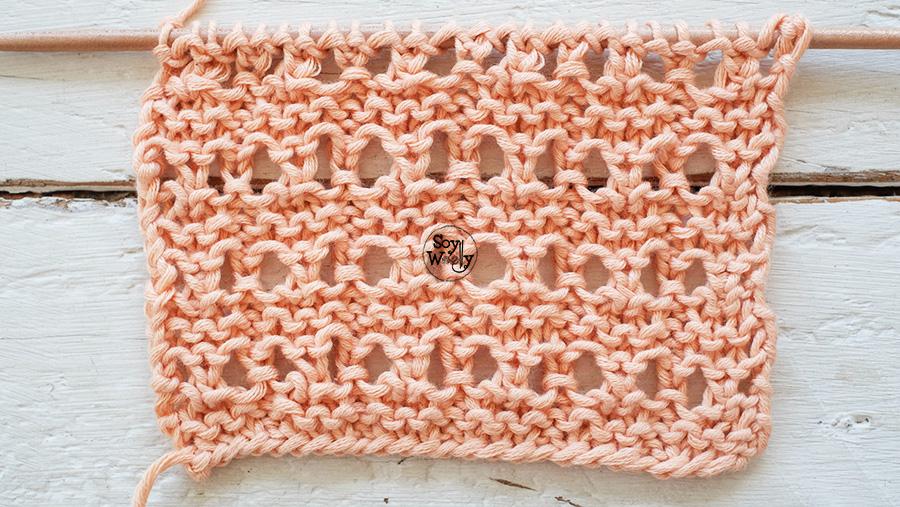 Puntos Calados con textura faciles dos agujas trricot calceta