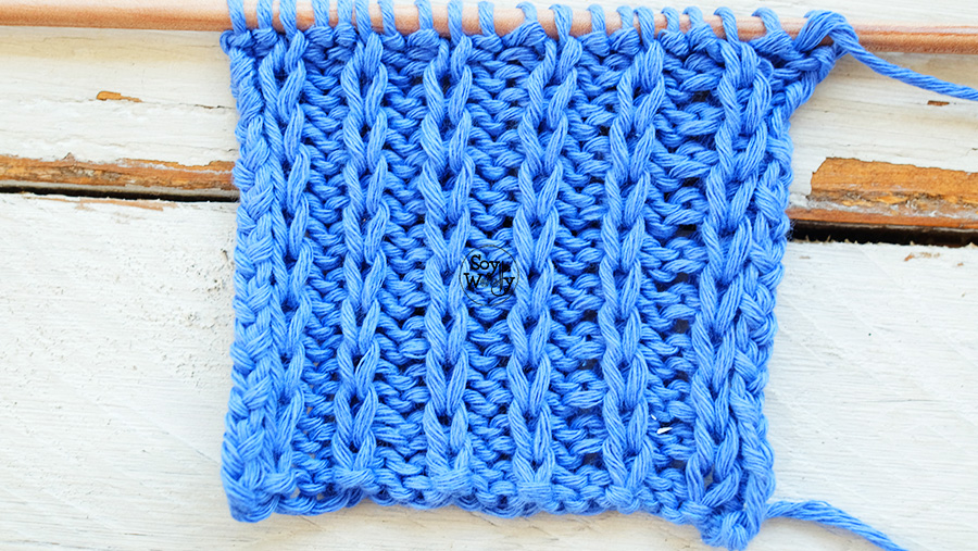 Puntos Reversibles faciles para tejer bufandas cuellos palillos tricot calceta