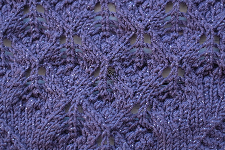 Encaje estonio tejido en dos agujas palillos tricot