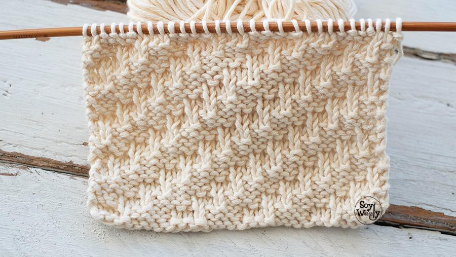 Punto Diagonal: para tejer bufandas-cuellos en dos agujas | Soy Woolly