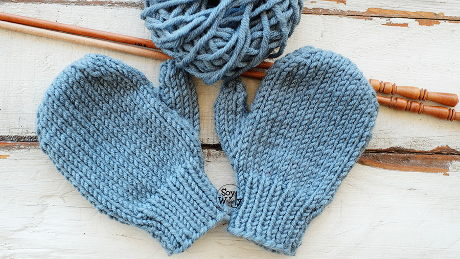 Como tejer mitones con dedo pulgar tricot calceta palillos