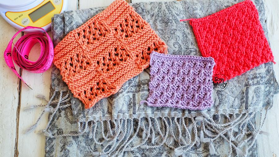 Para tejer una bufanda en dos agujas palillos palitos tricot