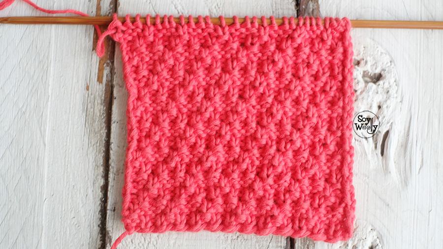 Puntos Reversibles para tejer bufandas cuellos mantas dos agujas tricot palitos
