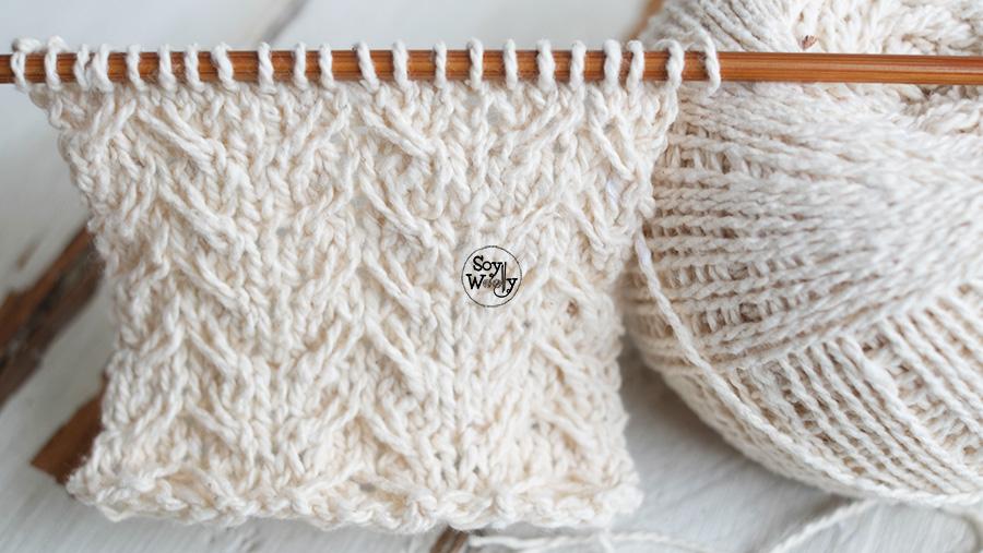 Como tejer puntos cruzados en dos agujas palillos tricot