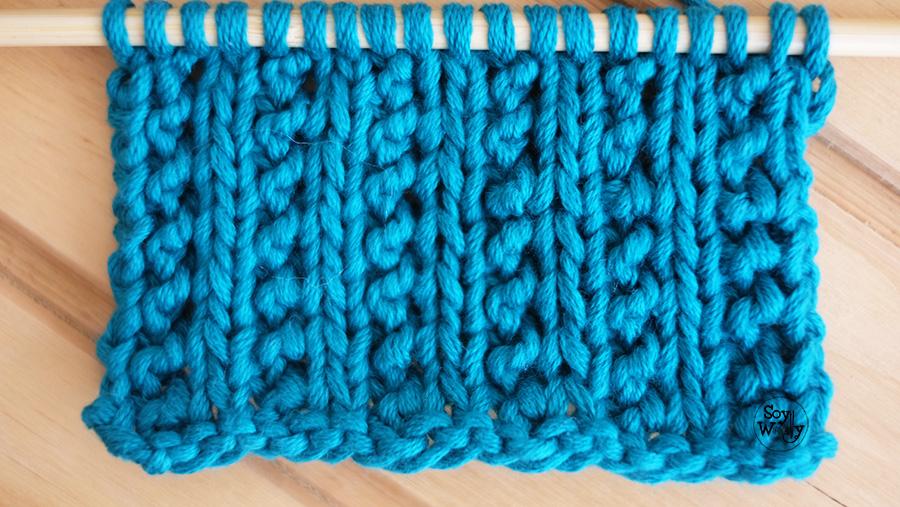 Como tejer punto liso con textura no se enrolla palitos calceta dos agujas