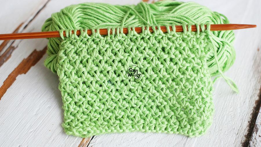 Punto facil reversible tejer cuellos dos agujas palillos tricot