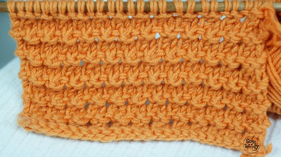 Como tejer el punto granizo en dos agujas tricot palillos