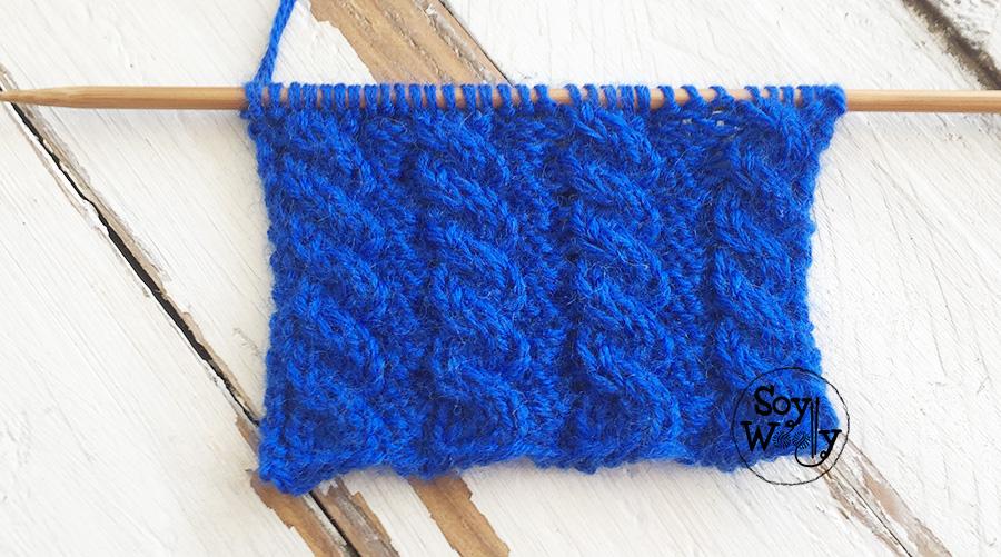 Punto Cuerdas Reversibles tutorial tejido en dos agujas, tricot, palillos. Soy Woolly.