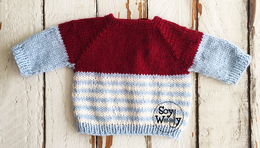 Cómo tejer un suéter de bebé paso a paso, en dos agujas, palillos, tricot. Soy Woolly.