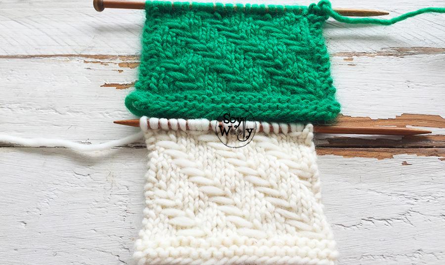 Puntos para tejer accesorios hogar en dos agujas (tricot, calceta). Soy Woolly.