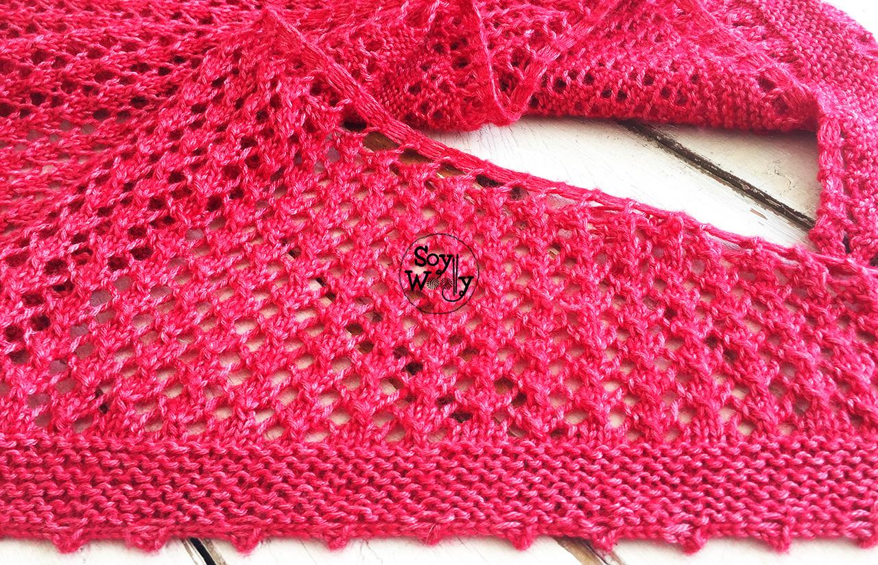 Cómo cerrar los puntos en pico (tutorial dos agujas, tricot, calceta, palillos). Soy Woolly.