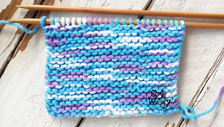 Puntadas fáciles tejidas en dos agujas, palillos, palitos. Soy Woolly, ven te enseño a tejer!