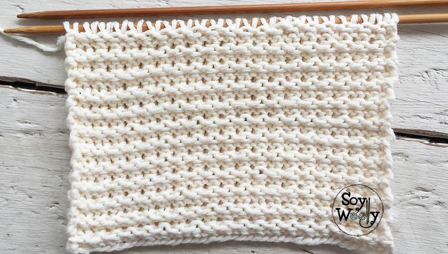 Muestrario gratuito de puntadas tejidas palillos tricot