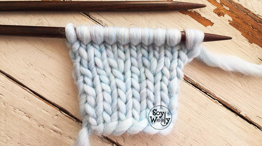 Aumento que no se nota tejido dos agujas tricot calceta