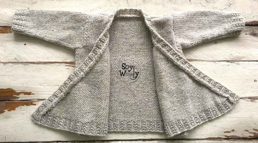 Chaqueta para niños tejida dos agujas paso a paso. Soy Woolly