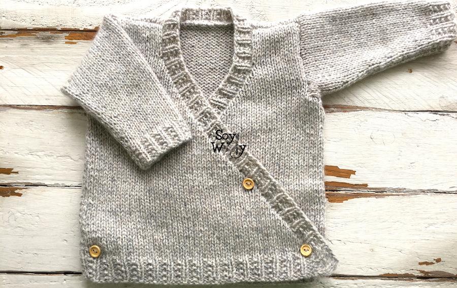 Cómo tejer chaleco para niños en dos agujas. Soy Woolly.