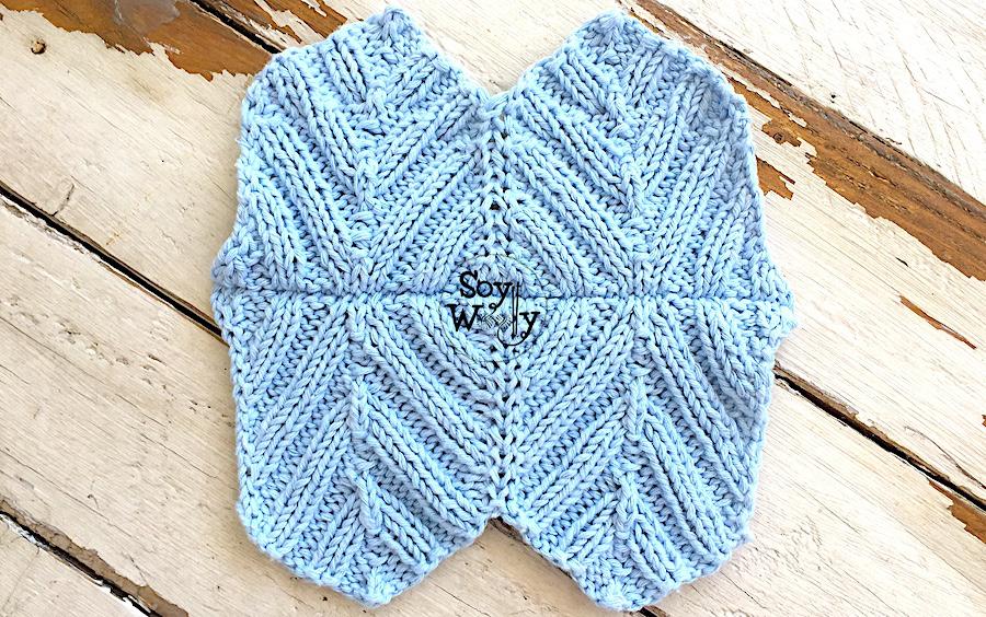 Cómo cerrar y unir tejidos con tres agujas tejiendo, sin coser. Soy Woolly.