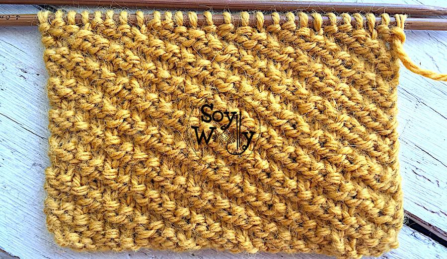Puntos tupidos que no se enroscan para principiantes tejidos en dos agujas, tricot. Soy Woolly